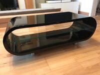 Techlink Ovid Black Gloss Oval TV Stand