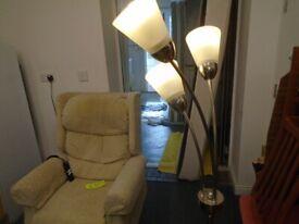 3-LIGHT FLOOR-STANDING LAMP at Haven Trust's charity shop at 247 Radford Road, NG7 5GU