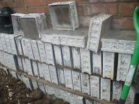 70 Glass bricks ,garden project ?
