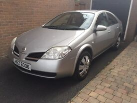 2006 Nissan Primera. 1.8 Petrol. Low genuine mileage. Very comfortable to drive.
