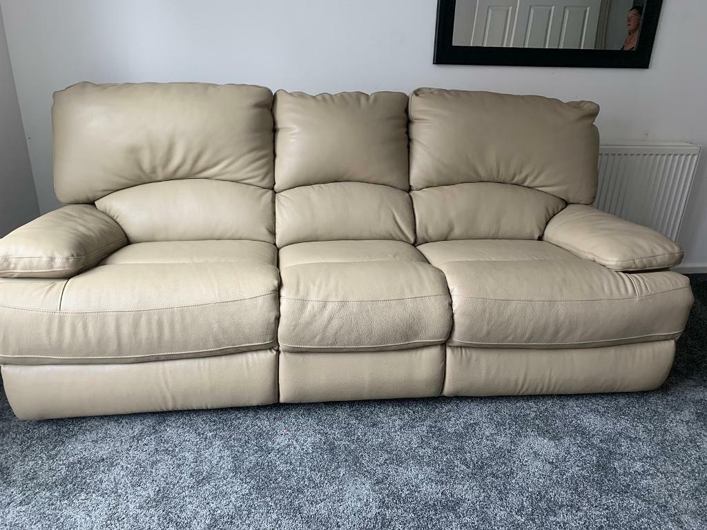 Astounding Oatmeal Leather Lazy Boy Sofas 2 Seater 3 Seater In Portsmouth Hampshire Gumtree Ocoug Best Dining Table And Chair Ideas Images Ocougorg