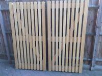 Solid Idigbo Hardwood Palisade Gates
