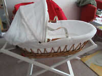 John Lewis Moses Basket with Stand £40.00 – Used