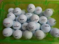 Twenty Five (25) Lightly Used White Golf Balls all in VGC - collection from Gosport Hampshire