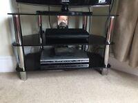Three tier modern TV stand