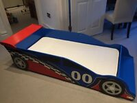 KidKraft Race Car Bed + Mattress -- Excellent Condition