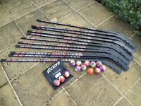 12x Inliner Comp 110-52 Hockey Sticks and 12 Active Smooth balls