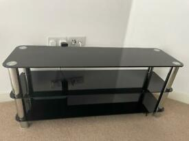 """LIKE NEW BLACK GLASS TV BENCH UP TO 50/55"""""""
