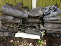 Large amount of pond lining available, free of charge! useful for planting, pick up only