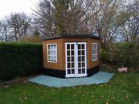 Wooden Corner Summer House, 7x7ft, good condition
