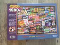 1000 piece 1980'S memories puzzle