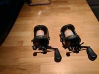 2 Daiwa Millionaire Tournament 7HT fishing reels