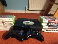 Xbox 360 slim 250GB with 19 games