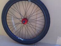D.M.R. BeeVee twenty 4, mountain bike wheels,two sets tyres.