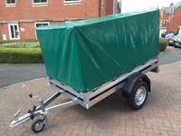 car box trailer BRENDERUP 1205s THULE with green 83cm High Canvas Cover