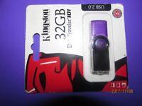 Genuine kingston 32GB Data traveler 101 Usb 2.0 flash drive [new] boxed