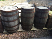 Fabulous Authentic Selection of Vintage Solid Oak Whisky Barrels Wooden Keg/Water Barrels/Pub Table