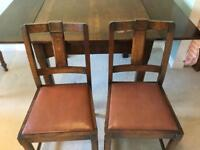 Vintage table with 6 matching chairs