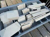Tile off cuts, light grey - FREE