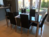 Dining Room Table and Chairs - Black