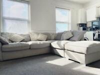 Beautiful DFS Oceana Corner Sofa - 6 Months Old