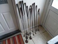 vintage old golf clubs