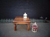 SOLID WOOD MEXICAN COFFEE TABLE IN EXCELLENT CONDITION 60/60/40 cm £30