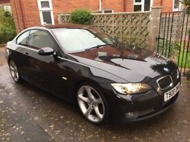 BMW 335i Coupe (E92) Gloss Black & Red Leather HPI Clear
