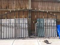 Double driveway gates 8ft 6in with all fittings