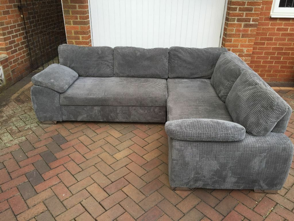 Grey Fabric Corner Sofa Bed In Hemel Hempstead