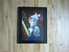 Framed painting of Starcraft Protoss character