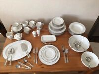 Noritake Platinum Wave ~ FULL SET for 8 people!