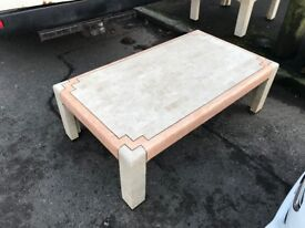 Large designer coffee table and side table