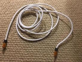 3 metre aux cable white