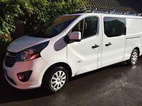 Vauxhall Vivaro Sportive Crew Cab L2, low miles, Rhino roof bars & roller system