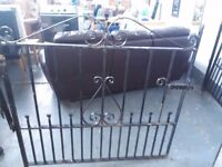 All in good condition, 2 wrought iron gates 1200mm / 4ft wide each