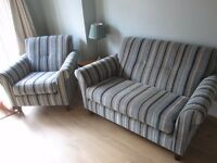 IMMACULATE JOHN LEWIS 2 SEATER SOFA AND 1 ARMCHAIR - £450 ono BARELY USED LOOKS NEW!