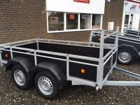 8'x4' Unbraked 750kg Trailer, twin axle