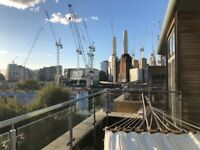 2 Bed Penthouse Flat for Rent Nine Elms Battersea Power Station w/ wrap roof terrace £2100/month