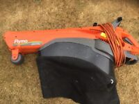 Flymo 2200w Garden Vac. Blows and sucks the leaves. Fully working. No collection bag.