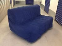 Ikea LYCKSELE Padded Double Futon Sofa Bed Cover in BLUE. For The 2 Seater Sofabed. COVER ONLY