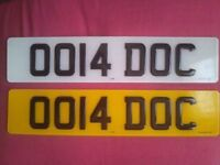 OO14 DOC private number plate cherished registration 0014DOC includes fees DOCTOR