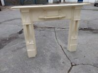 Painted wooden mantle piece / fire surround.