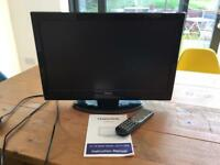 "22"" TV with DVD player"