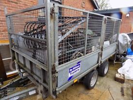 ifor williams cage trailer dropside flatbed 10x5.5 with heavy duty ramps