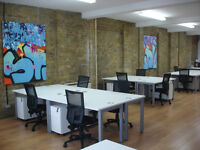 Desks to rent in friendly creative studio close to Old Street tube