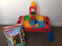 Mega Bloks Table and 80+ blocks