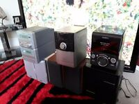 3 CD HIFI SYSTEMS, ALL WORKING,, £25 THE LOT