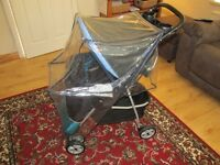 Black & Blue Hauck Pram - Only used TWICE