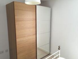 Large PAX Malm Wardrobe in Perfect Condition with Mirrored Sliding Door